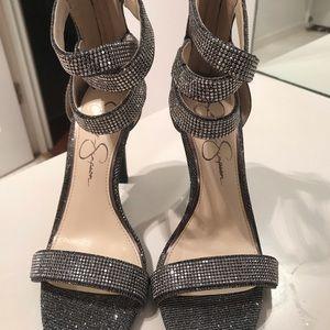 Jessica Simpson Metallic Sparkling Heels